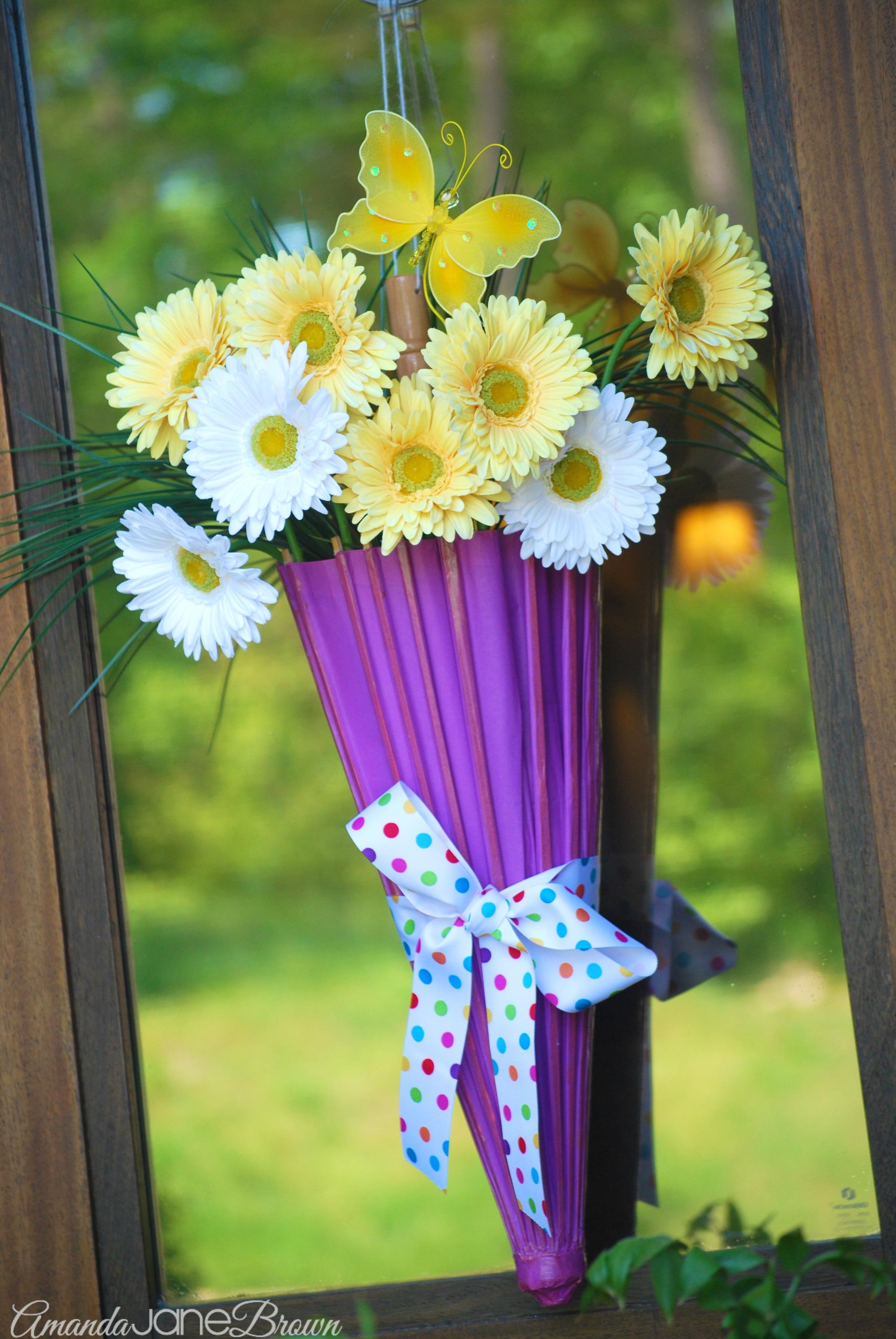 Umbrella door hanger amanda jane brown for Decoration hangers