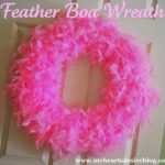 Feather Boa Wreath Tutorial