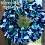 School Spirit Rag Wreath