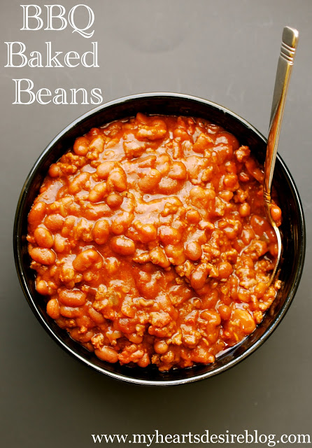 BBQ Baked Beans Recipe - Amanda Jane Brown