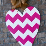 Chevron Heart for Valentine's