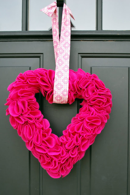 Valentine Heart Felt Wreath 3