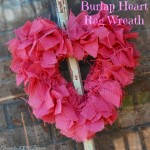Burlap Heart Rag Wreath