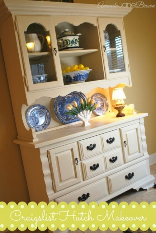 Craigslist Hutch Makeover With Annie Sloan Chalk Paint