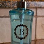 Monogrammed Soap Dispenser-Gift Idea