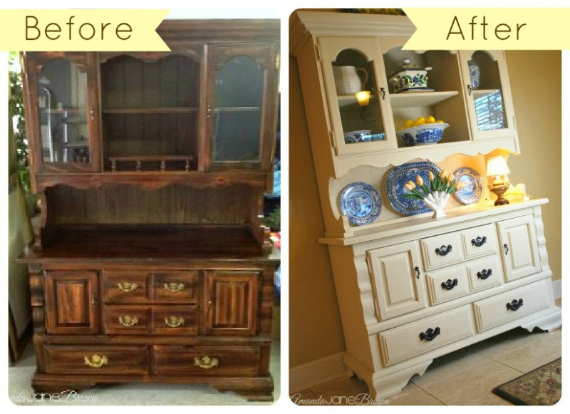 Craigslist Hutch Makeover with Annie Sloan Chalk Paint Amanda Jane