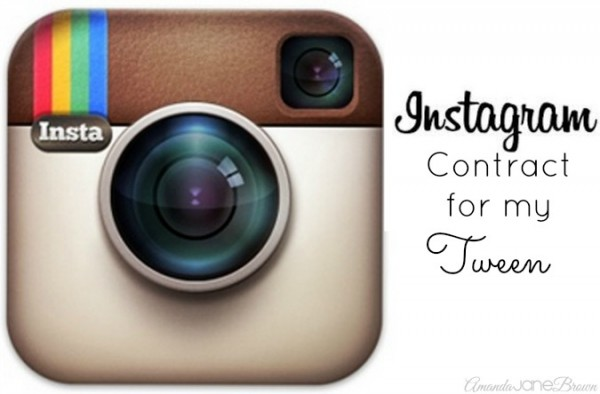 Instagram Contract for Tweens