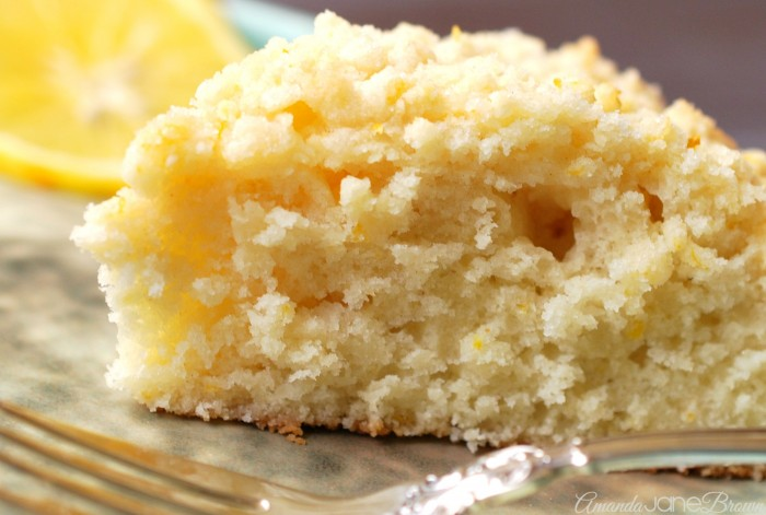 Meyer Lemon Coffee Cake - Amanda Jane Brown