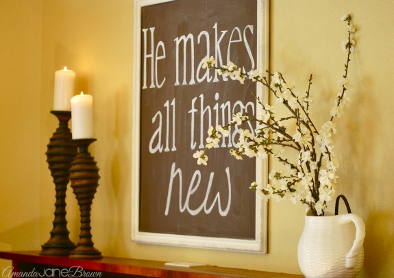 Simple Easter Mantel 1