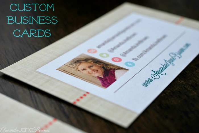 Custom business cards from moxy ox amanda jane brown for Business cards for bloggers