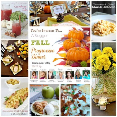 Fall Progressive Dinner Party Ideas