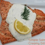 Simple Salmon with Creamy Dill Sauce
