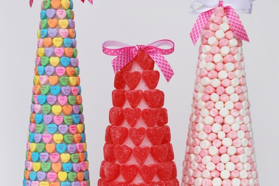 Valentine's Candy Trees