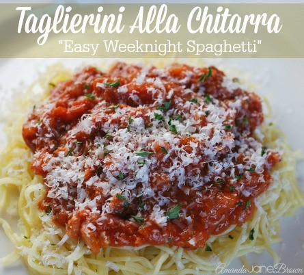 Taglierini Alla Chitarra-Easy Weeknight Dinner